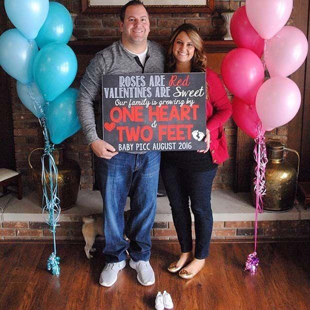 21 Valentine S Day Pregnancy Announcement Ideas Pregnancy Babies