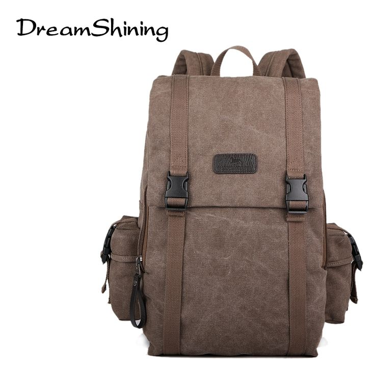 47.41$  Buy here - http://alia6s.worldwells.pw/go.php?t=32724961337 - Fashion Bag Casual Canvas Bag Pocket Travel Mens Canvas Bag Waterproof Bag Backpack Man High Quality Material