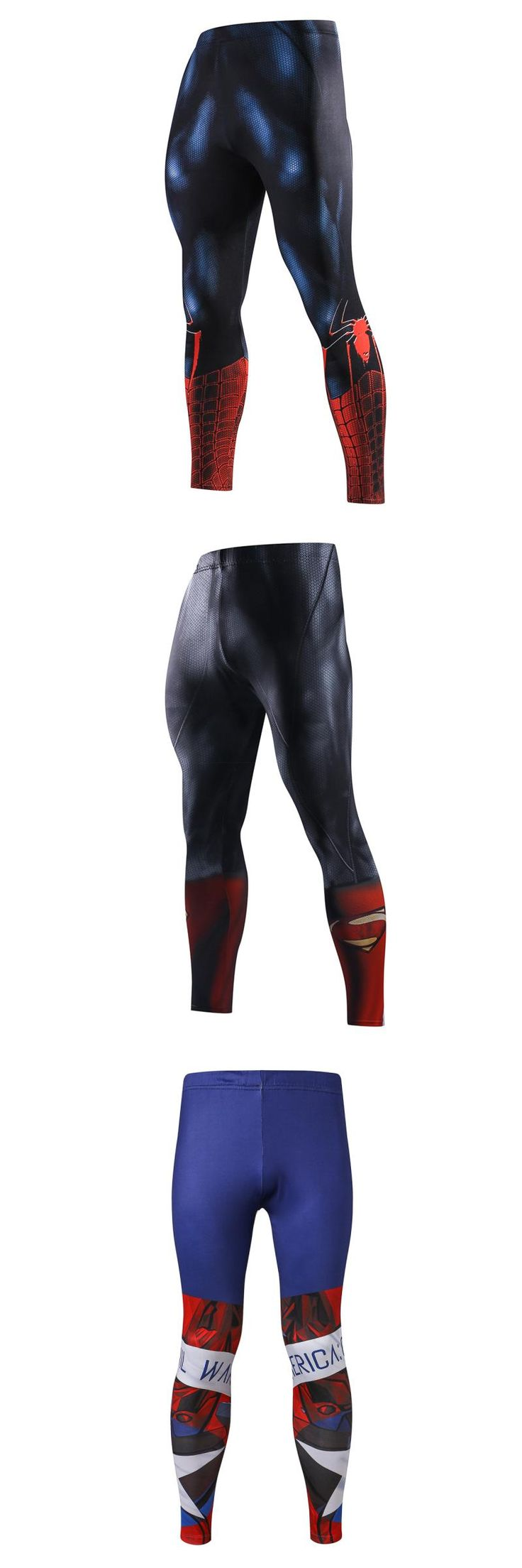 [Visit to Buy]  Spiderman 3D Print Running Tights Men Jogging Sport Leggings GYM Fitness Compression Pants Exercise Trousers Short Muay Thai #Advertisement