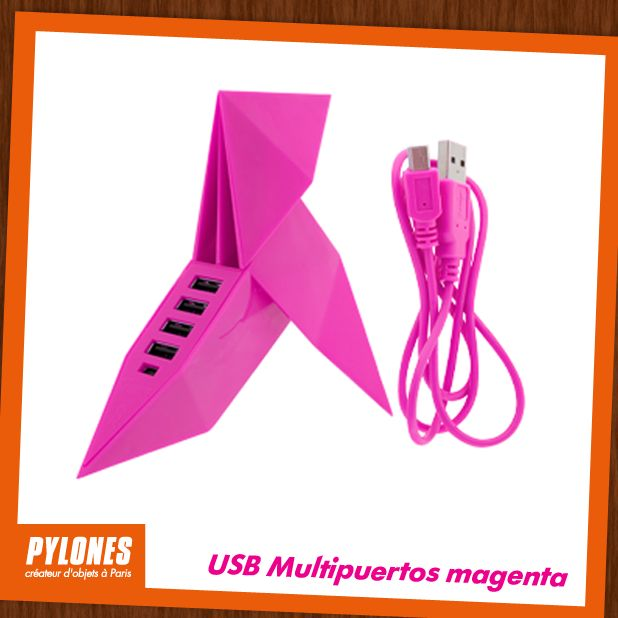 USB Multipuertos Rosa. @pylonesco #pylonesco