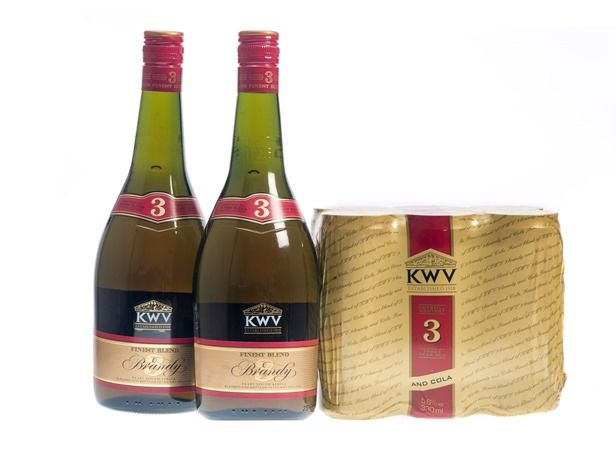Two bottles KWV 3-year old and a FREE 6 pack KWV and Cola cans 330ml for R179.90.  Liquor City - 014 537 2664.