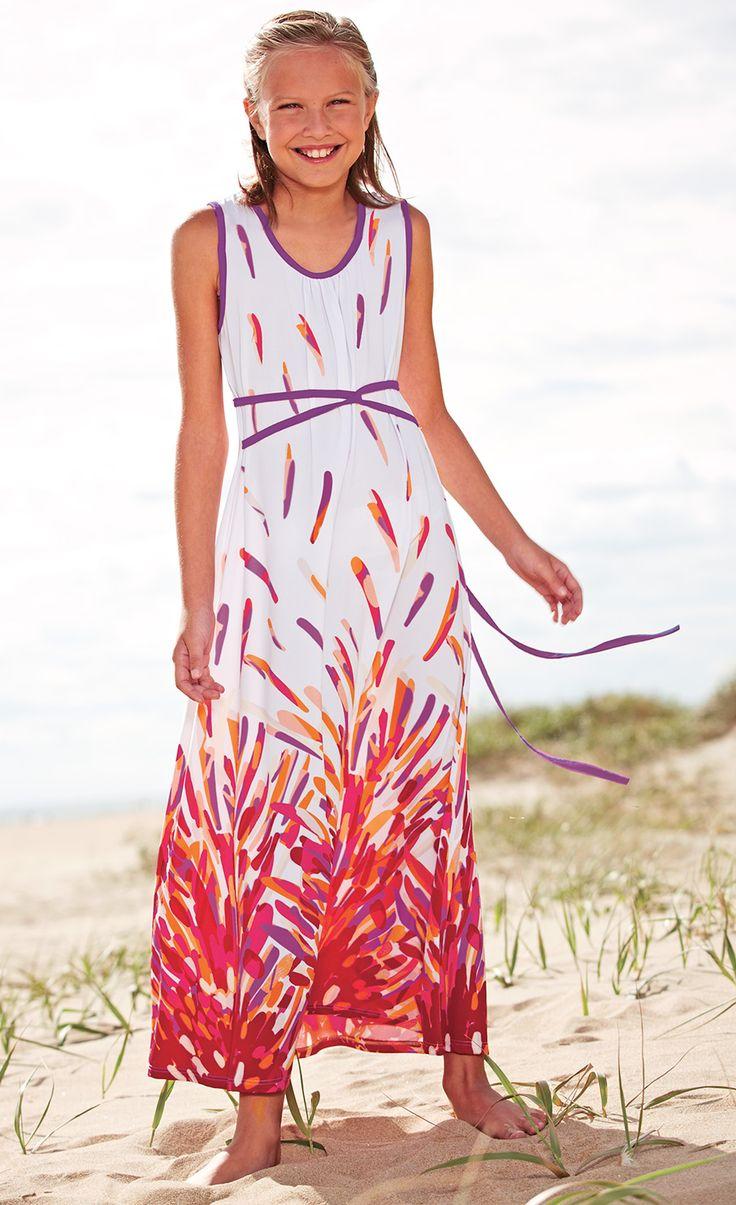 From CWDkids: White Sunburst Maxi Dress.
