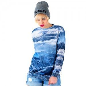Bluza Oversize Hipster z nadrukiem ZIMA unisex