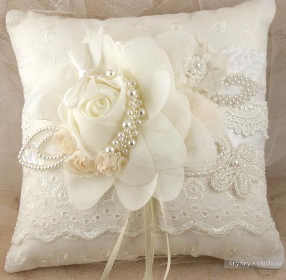 Eyelet, White Rose, Ribbons, & Pearls. Lovely, detailed beading, The perfect accent for romancing the home!