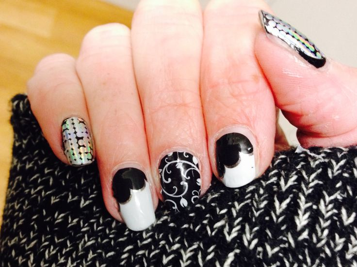 Mix and Match, it's so much fun coming up with a great combination like this. Shining personality over Raven lacquer, on the town & black floral www.ausjam.com.au