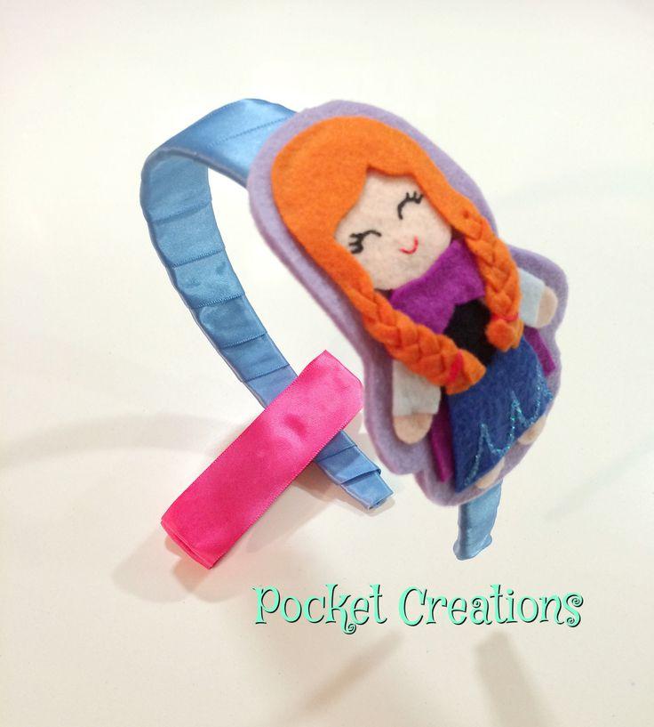 Cerchietto Anna -Frozen #pocketcreations #handmade #hair #accessories #feltro…