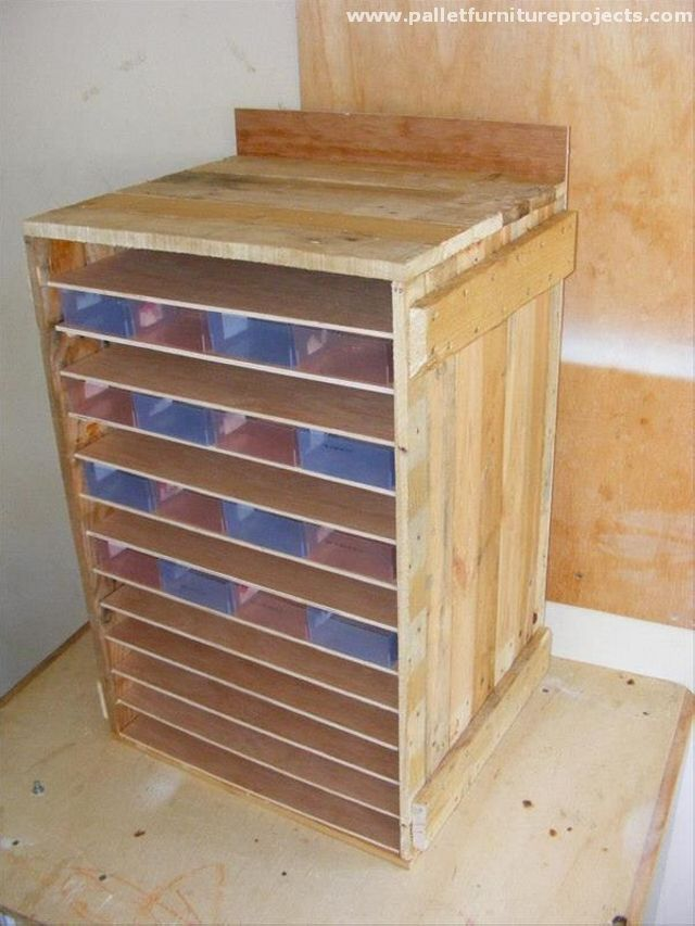 Pallet Storage Cabinet 14 best Upcycling images