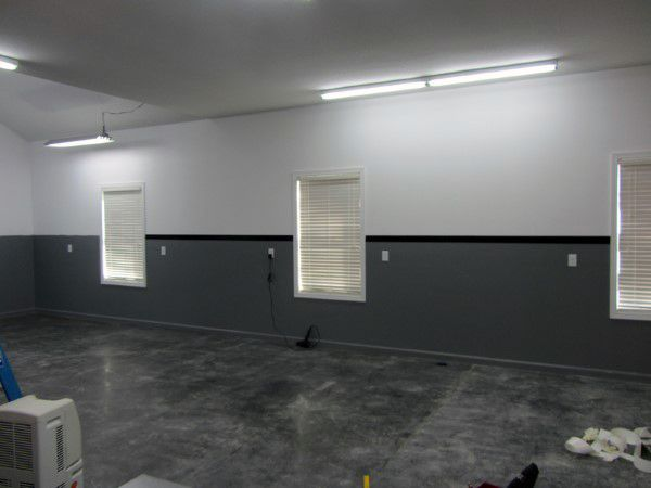 Garage Designs Interior Ideas brilliant and lovely garage interior design for your property Grey And Black Garage Wall Paint Colors Contrasting Design Ideas