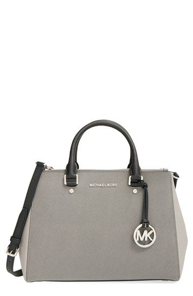 MICHAEL Michael Kors 'Medium Sutton' Saffiano Leather Satchel available at #Nordstrom