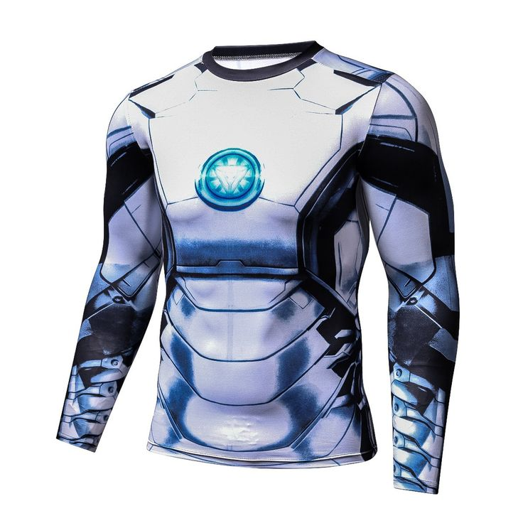 Iron Man Long Sleeves 3D Awesome Design Compression T-shirt #Superhero #IronMan #LongSleeves #3D #Awesome #Design #Compression #T-shirt