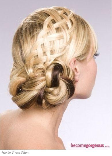 Flirty Braided Updo Hair Style