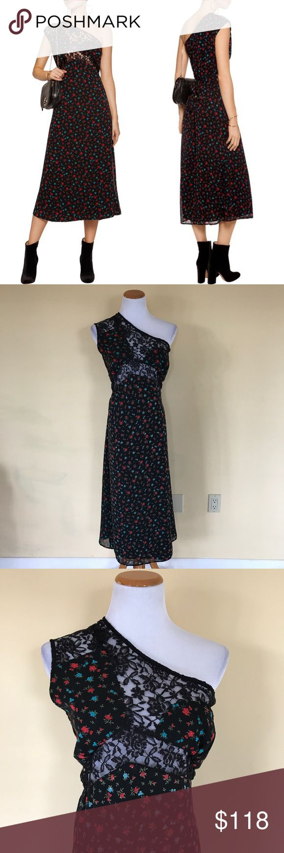 NWT Walter Baker One Should Lace Floral MariaDress New with tag by Walter Baker. Floral One Shoulder dress with lace details. Super unique, versatile, and beautiful! Size 2. Check out my closet for bundles! Walter Baker Dresses One Shoulder