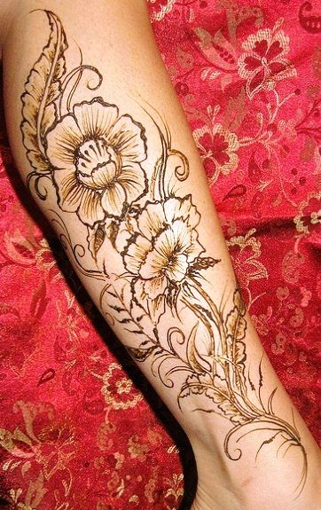 Leg Flower Henna Tattoo: Floral Ankle Tattoos - Google Search