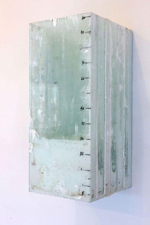 "Didier Corallo / ""#8 (Excavation 2)"", oil/latex, enamel, glass, wood"