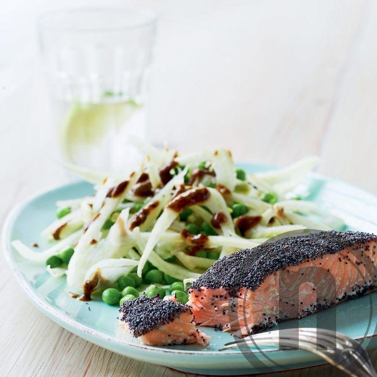 Laksesteaks med birkes og fennikelsalat