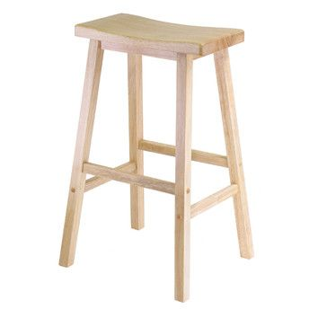 "Winsome 29"" Single Natural Seat Stool $37.00 Free Shipping on orders over $49.00 Ships in 24 Hours List Price: $64.99 You Save: $27.99 (43%) Rewards:  $1.11 ? 30+ in Stock"