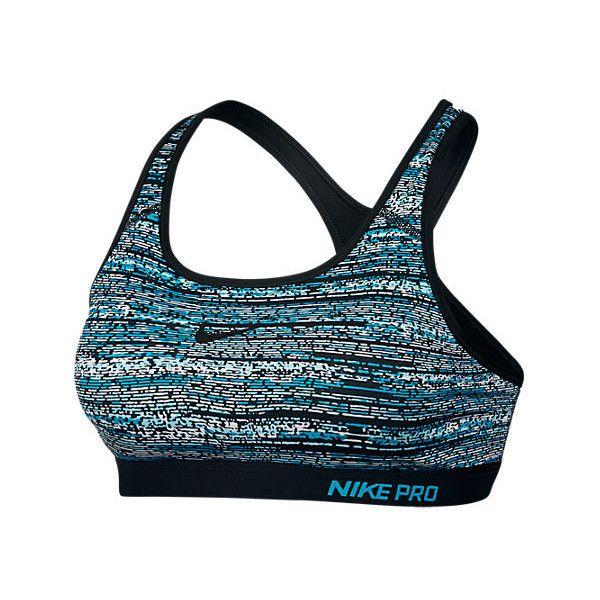 "Nike Women's Pro Classic Padded Bra, Blue ($45) <span class=""EmojiInput mj40"" title=""Heavy Black Heart ::heart::""></span> liked on Polyvore featuring activewear, sports bras, blue, yoga sports bra, nike sportswear, blue sports bra, racer back sports bra and nike sports bra"