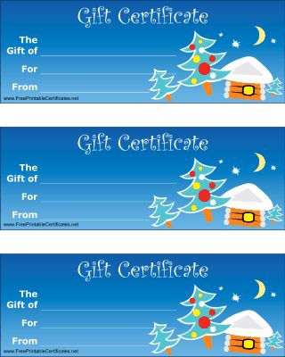 22 best Gift Certificate printables images on Pinterest Hand - christmas gift certificates free