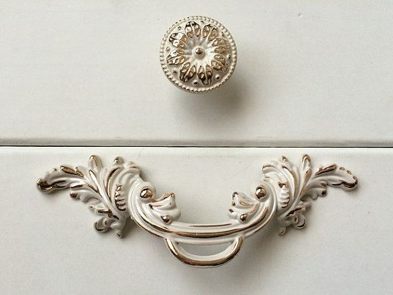 Shabby Chic Dresser Knobs Pulls Drawer Pull By ARoseRambling