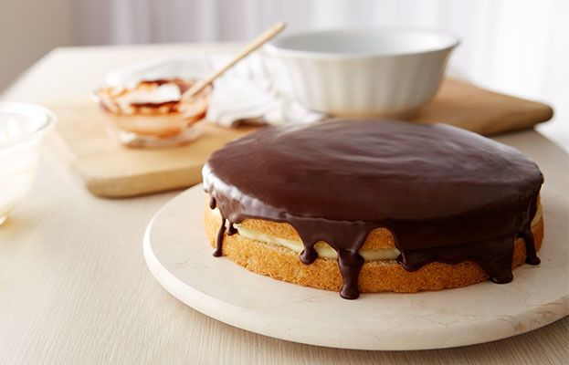 Try this Classic Boston Cream Pie recipe, made with HERSHEY'S products ...