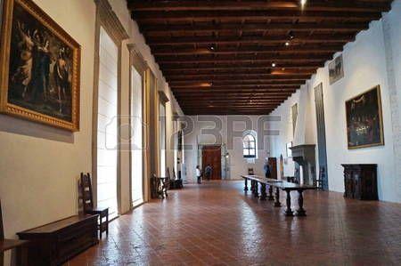 Interior of Palazzo Ducale, Gubbio, Umbria, Italy