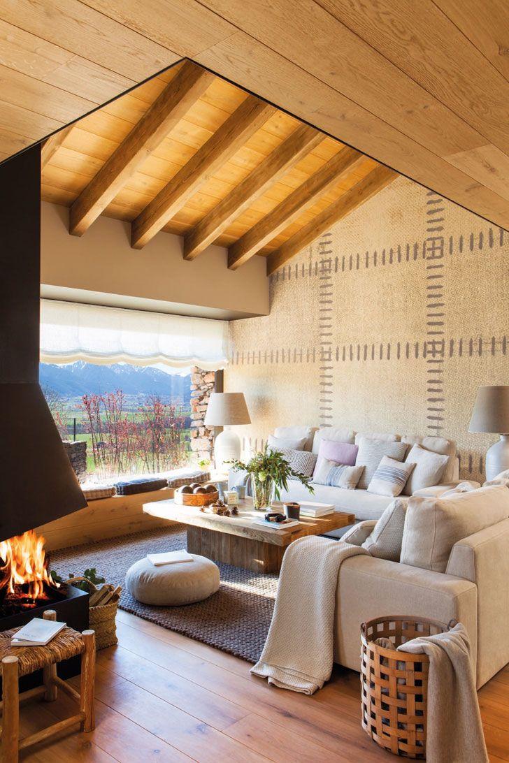 Природа на большом экране: современный дом в горах