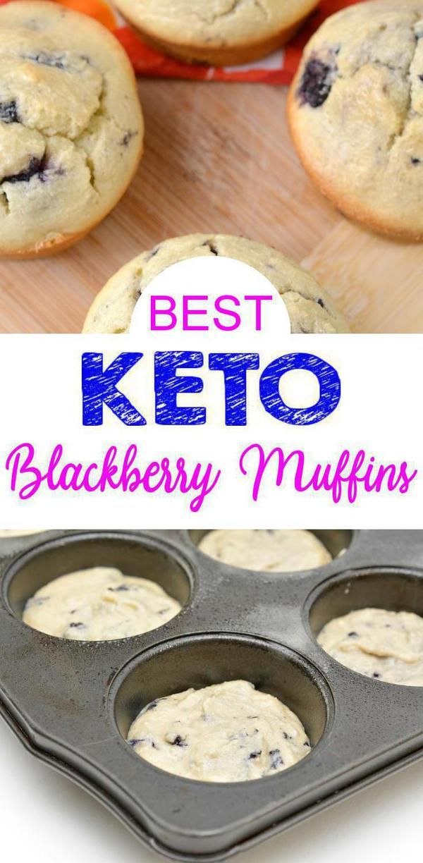 Low Carb Keto Blackberry Muffins
