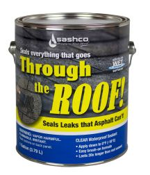 Through The Roof, Elastic Roof Sealant, Clear, 1 Gallon