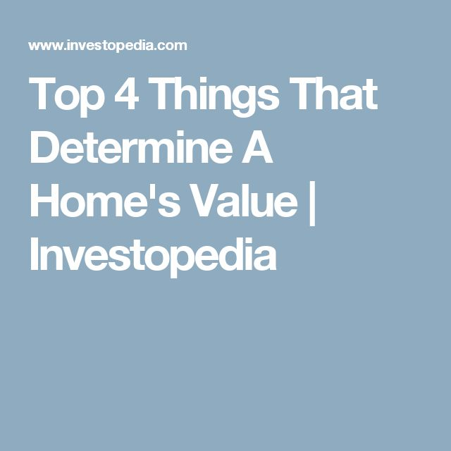 Top 4 Things That Determine A Home's Value | Investopedia