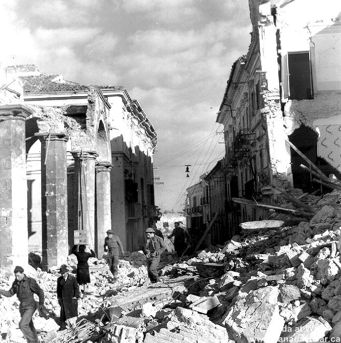 Ortona - Many civilians had stayed in the town throughout the fighting, despite warnings from the Germans to leave. With the end of combat   they began emerging from hiding.
