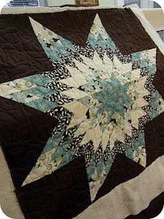 Star quilt i love the idea of an entire quilt looking like one giant block :)