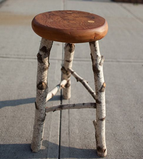 Wintery Woodlands: Birch Stool, Barnwood Bench & Leaf Collection The Tuesday MORNING Scavenger