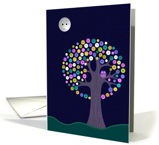 My latest card offering at GCU. Blank Button Tree Greeting Card. Also available with Halloween or Samhain text.