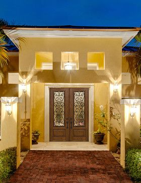 Palermo GBG design in Artisan Collection® Knotty Alder wood grain - transitional - Front Doors - Houston - GlassCraft Door Company