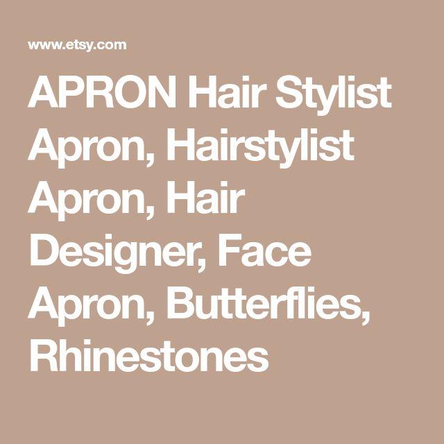 APRON Hair Stylist Apron, Hairstylist Apron, Hair Designer, Face Apron, Butterflies, Rhinestones