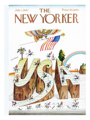 The New Yorker Cover - July 1, 1967 Poster Print by Saul Steinberg at the Condé Nast Collection