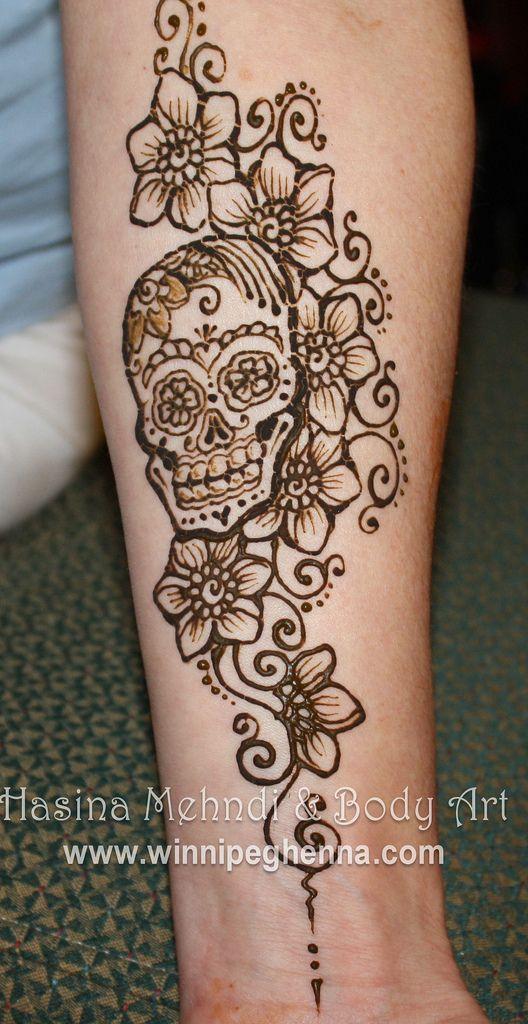 sugar skull henna | Flickr - Photo Sharing!