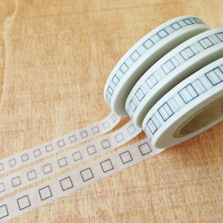 Perfect washi tape for planner.    3mm Square Bullet : 7mm x 15m  3.7mm Square Bullet : 8mm x 15m  5mm Square Bullet : 9mm x 15m Made in Japan