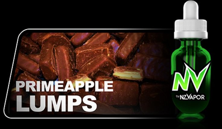 Primeapple Lumps NV Juice (e-juice) tastes just like the real thing. A delightful mix of sweet pineapple confectionary on the way in, and the delicious taste of rich milk chocolate on the way out. A real kiwi treat for those with a love of the old classic, just without the extra pounds.   All products in the NV JUICE range are designed to offer the highest vapour production available.