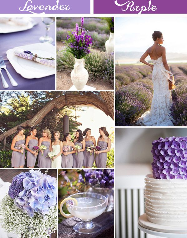 Lavender Inspired Wedding Color Ideas and Wedding Invitations  