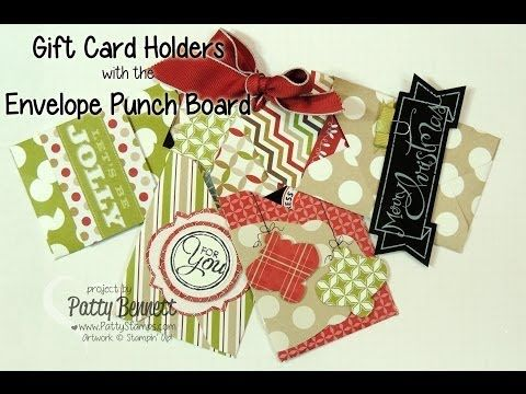 www.PattyStamps.com - How To Video for Gift Card Holder created with the Stampin Up Envelope Punch Board
