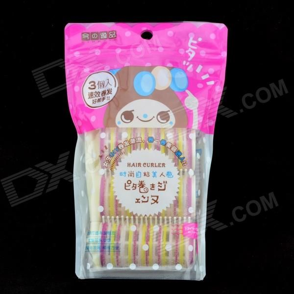 Brand: N/A; Color: Multicolored; Material: ABS; Quantity: 1; Functions: Use the rolling stick to roll the hair you want, remove the roller after it's done; The roller comb can help hold the hair; Packing List: 3 x Roller1 x Rolling stick; http://j.mp/1v32Zc2