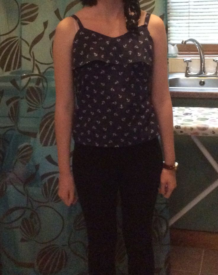 This camisole top is also from the sewing bee Fashion with Fabric book. It is a quick make and is very comfy!