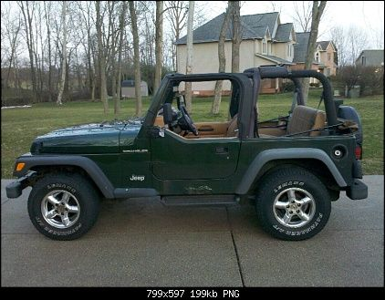 My mom loves everything Jeep.  She has a hunter green Jeep Wrangler a lot like this one.
