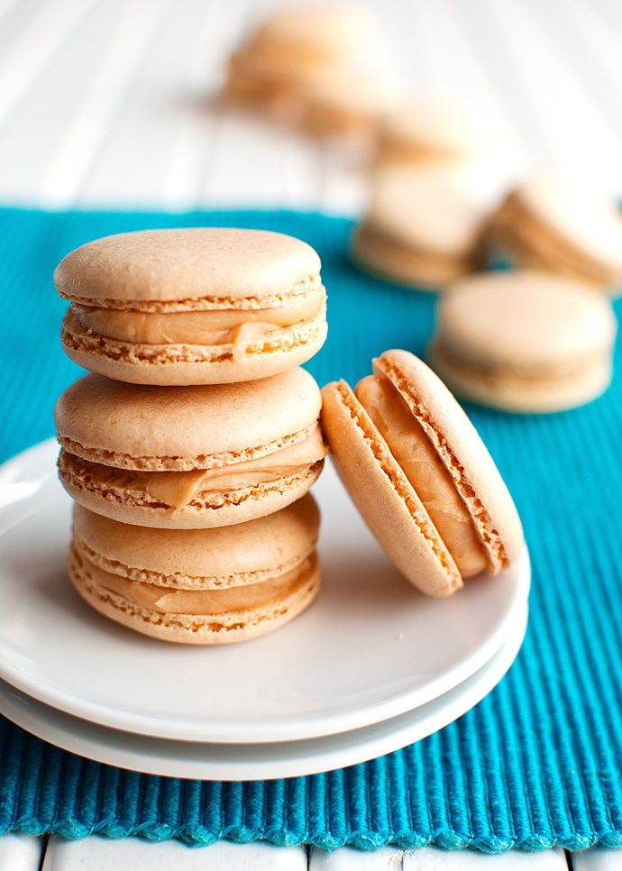 The Tough Cookie | Salted Caramel Macarons With a Whipped Caramel Filling | http://thetoughcookie.com