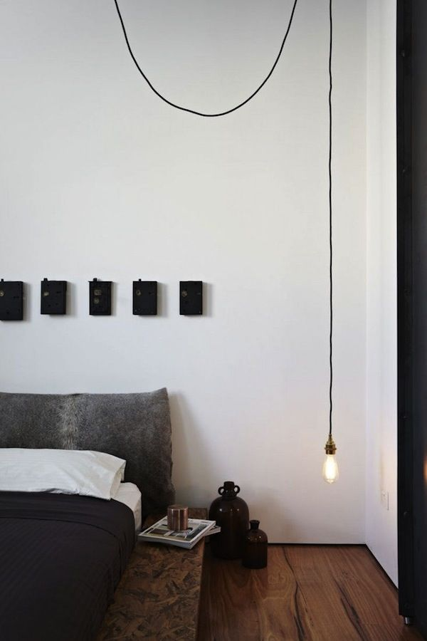 Bedroom interior design hanging lights bedrooms lights for Simple bedroom interior