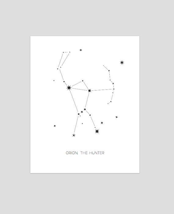 Orion la Constellation Hunter  Tirage d'Art mur astrologie