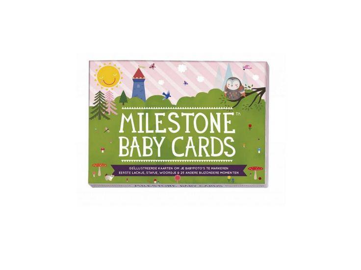 Milestone baby cards nederlandse versie voor het vastleggen van alle bijzondere eerste keren bij baby's. De Milestone cards zijn nu te koop bij babywinkel Hip & Hap. Ook leuk als kraamcadeau of cadeau bij een babyshower.