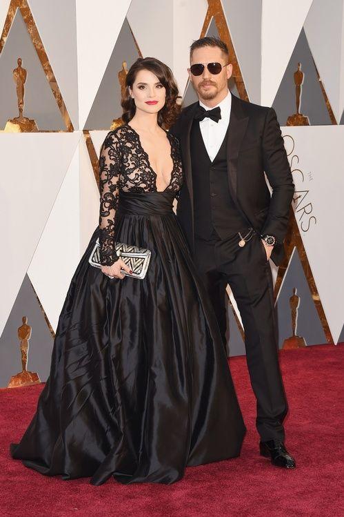 Tom Hardy et Charlotte Riley à la cérémonie des Oscars 2016