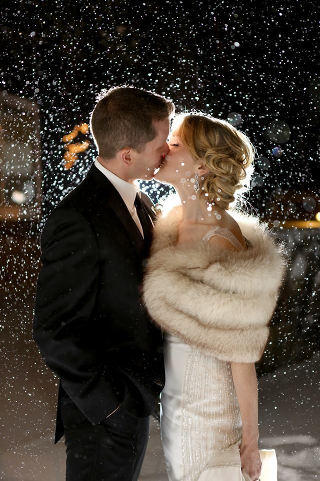Gorgeous winter wedding photo